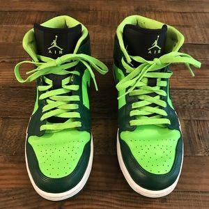 Nike Shoes - Men's Nike Air Jordan 1's - Green and Black